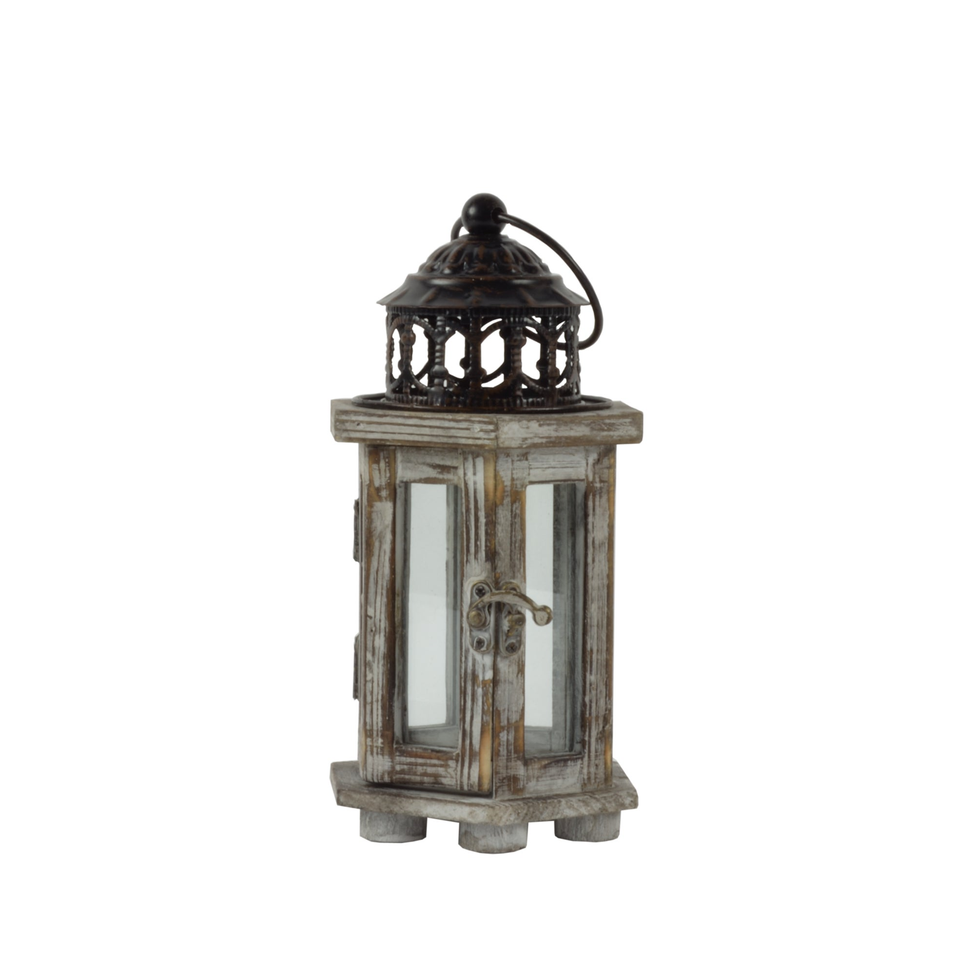 Burnt Sienna Collection Wooden Lantern
