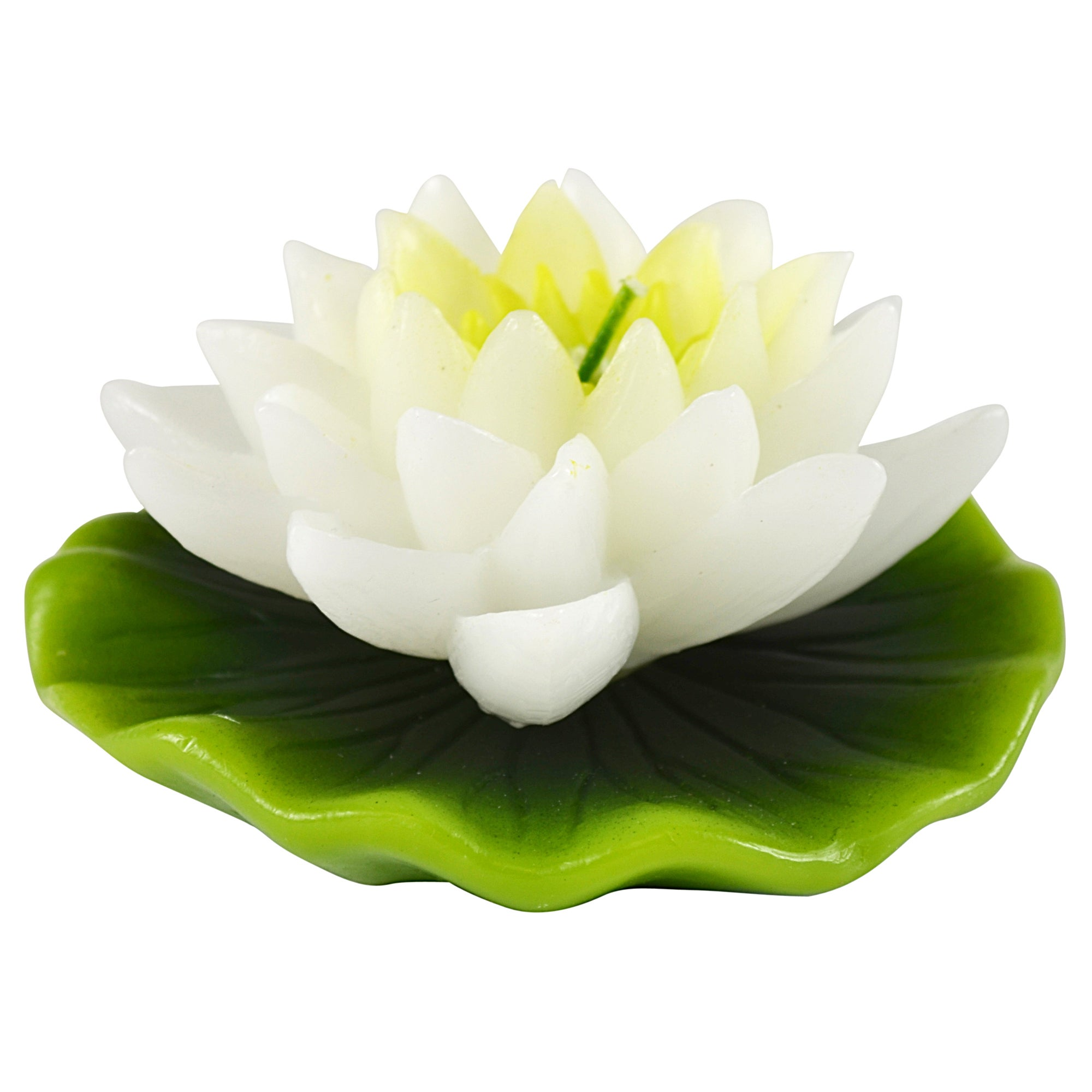 Key Lime Collection Flower on Lily Pad Candle