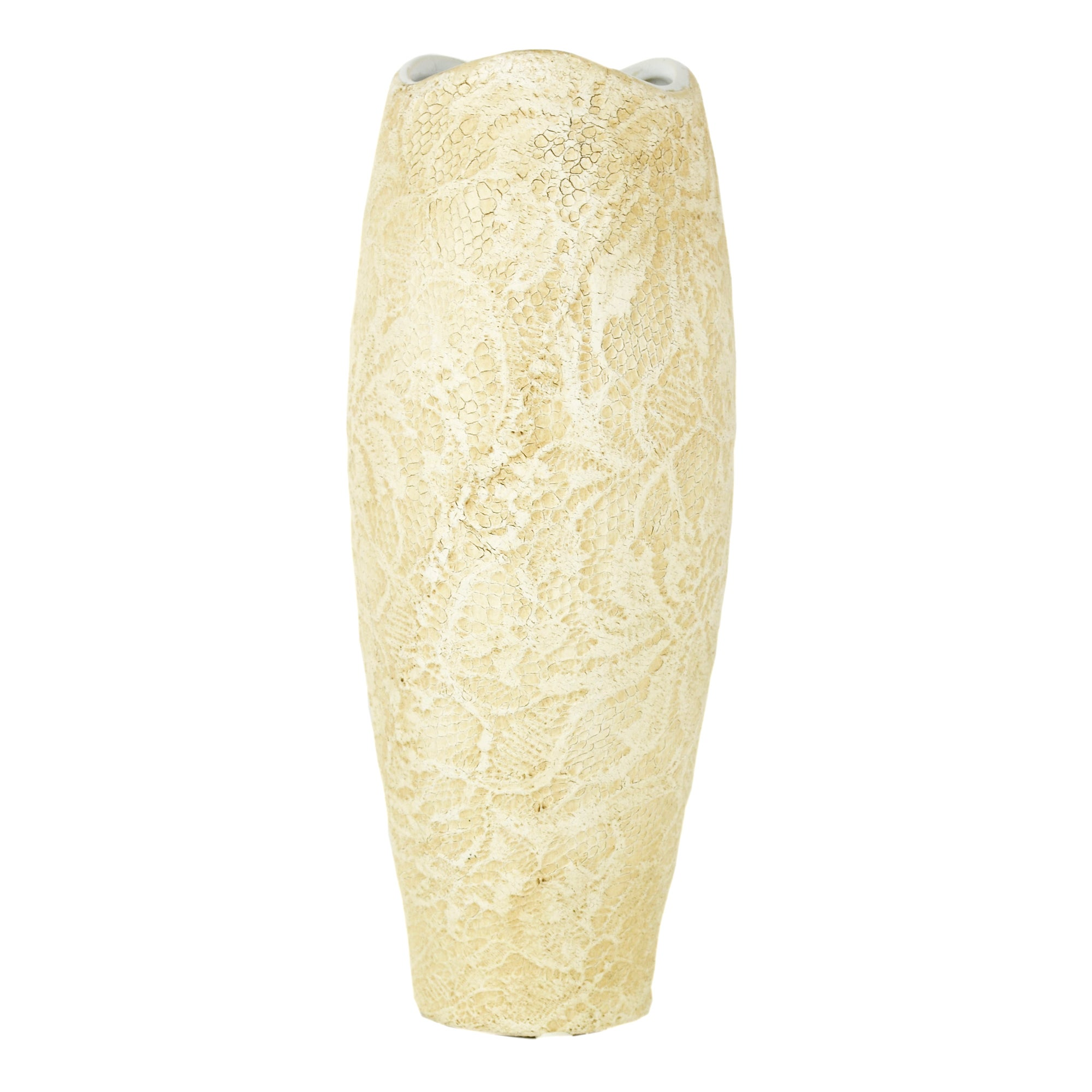 New Naturals Collection Lace Design Bullet Vase