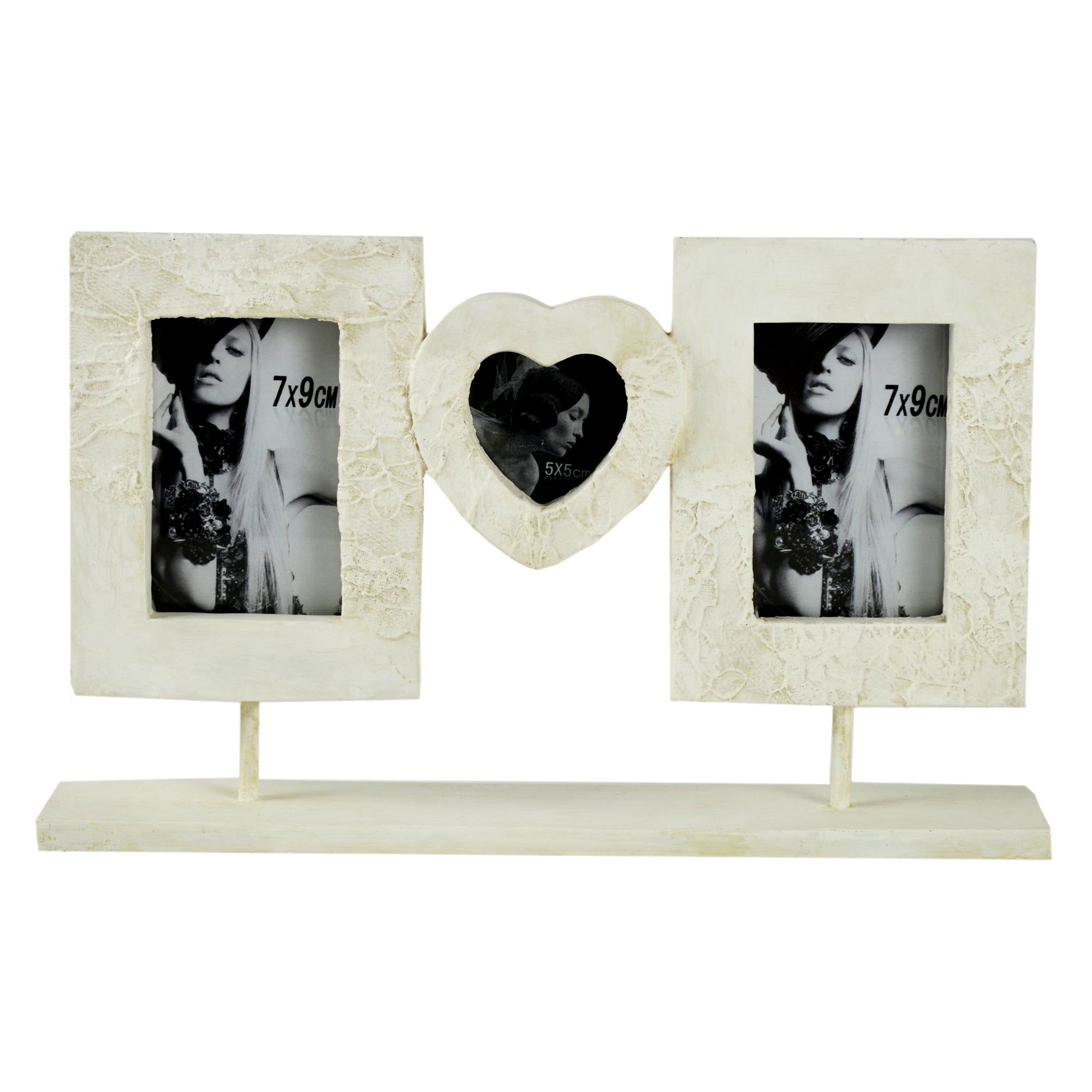 New Naturals Collection Lace Effect Photo Frame