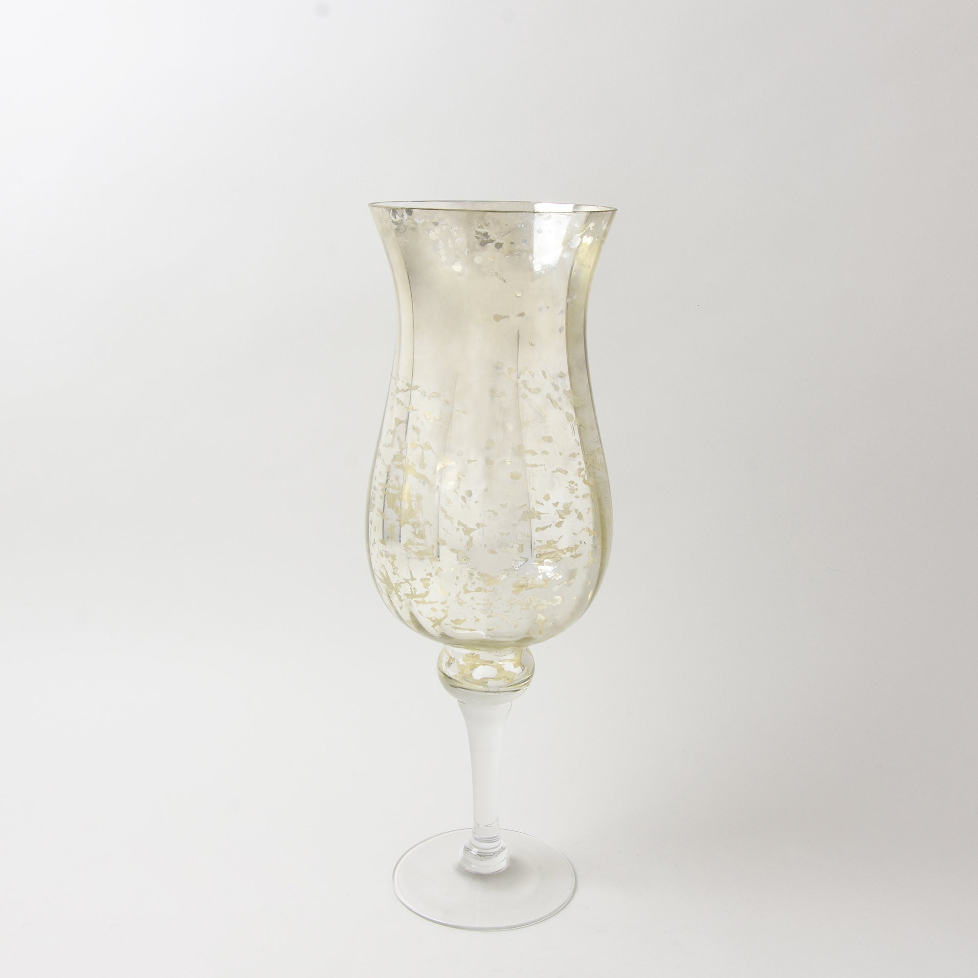 New Naturals Collection Mottled Glass Hurricane Vase