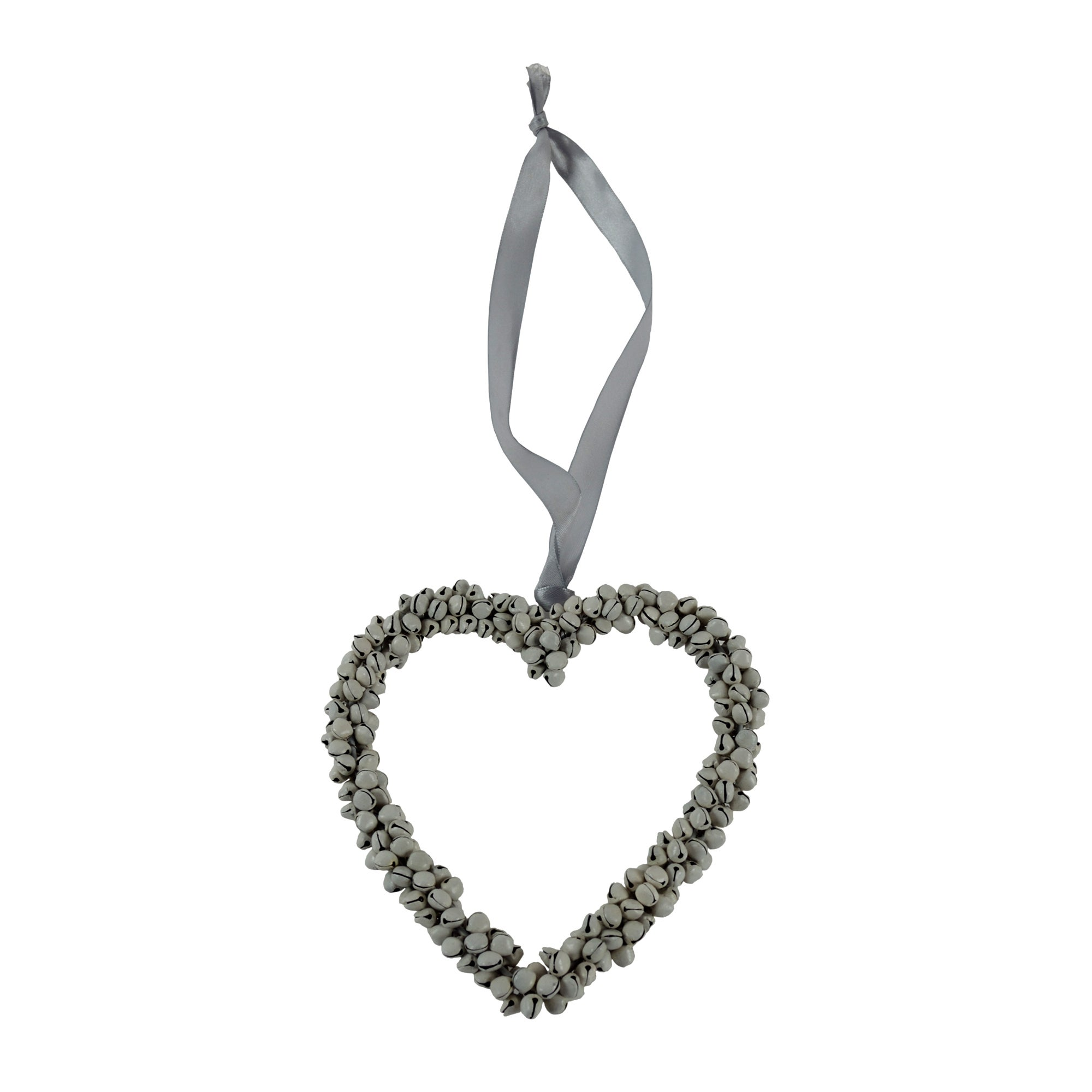 Plum Pudding Collection Large Hanging Heart with Bells