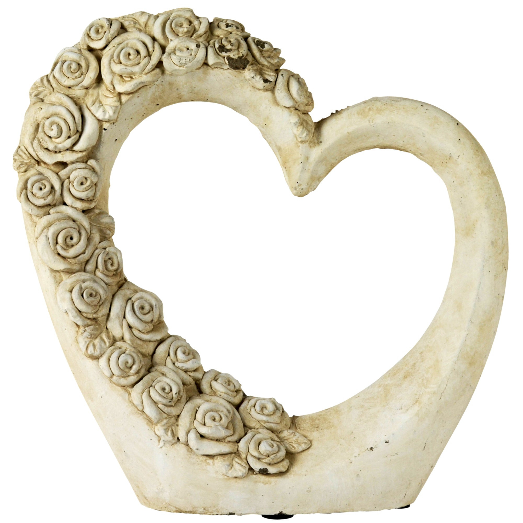 Room in Bloom Collection Heart Sculpture with Roses