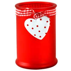 Ruby Collection Frosted Candle