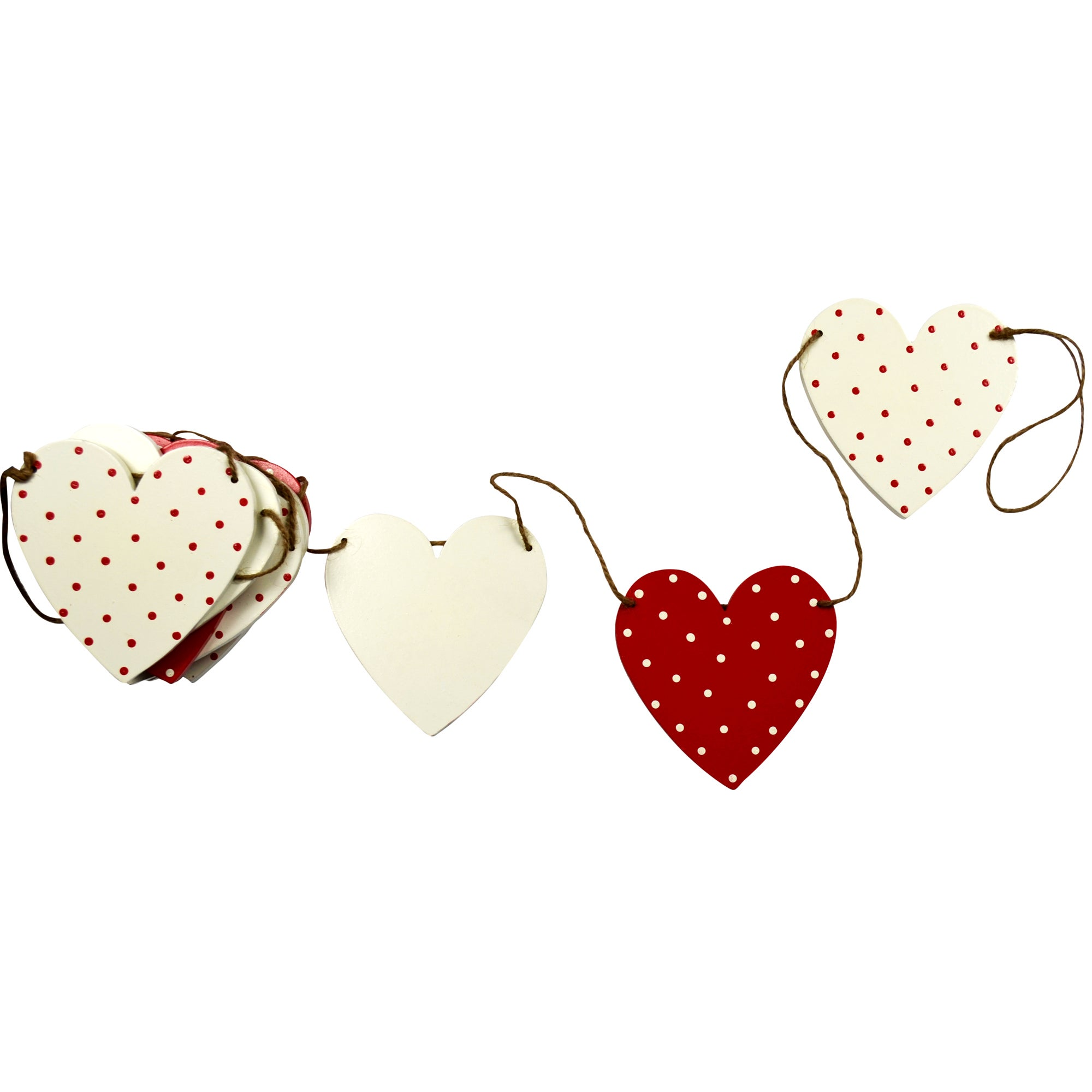 Ruby Collection Heart Shaped Bunting