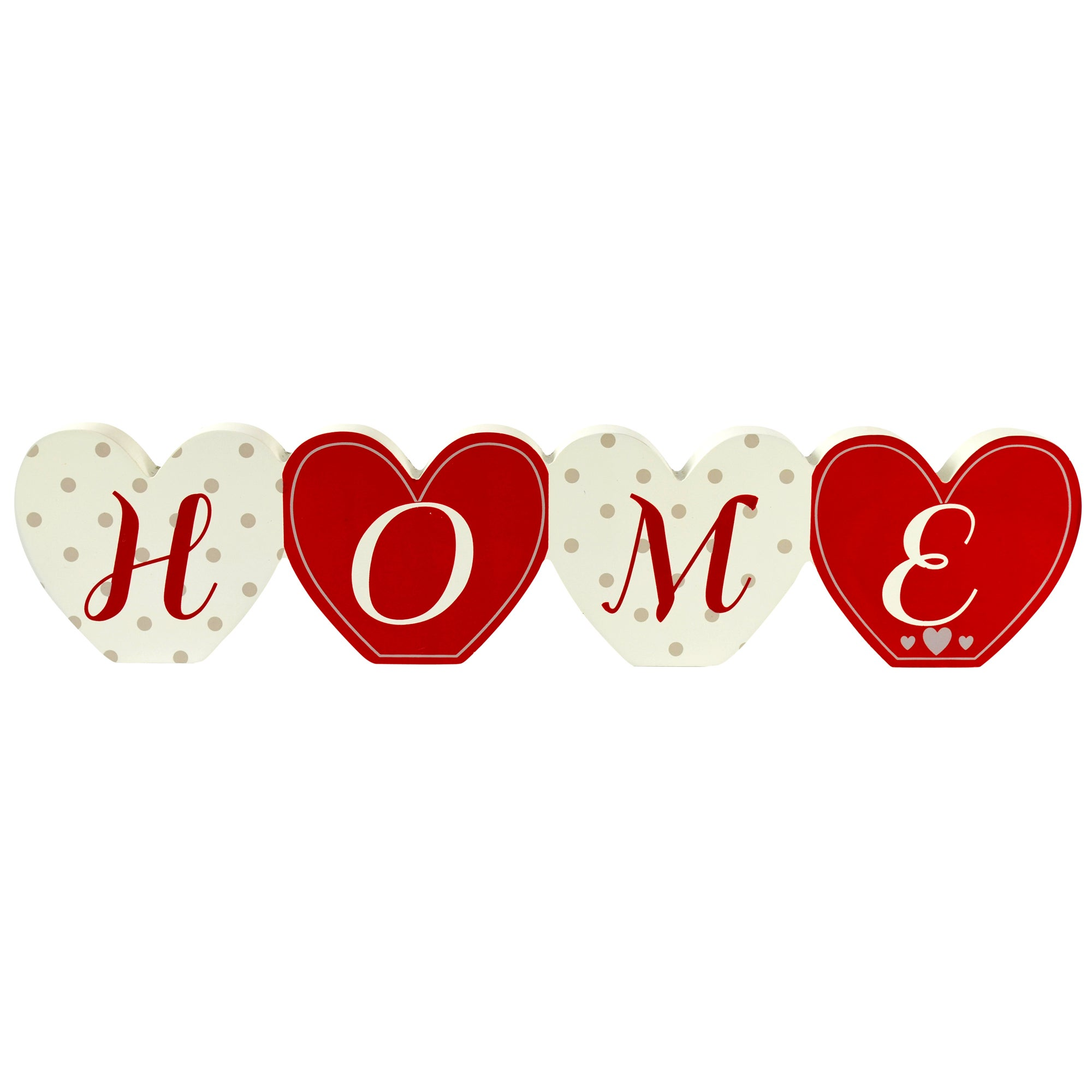 Ruby Collection Wooden Home Word Ornament