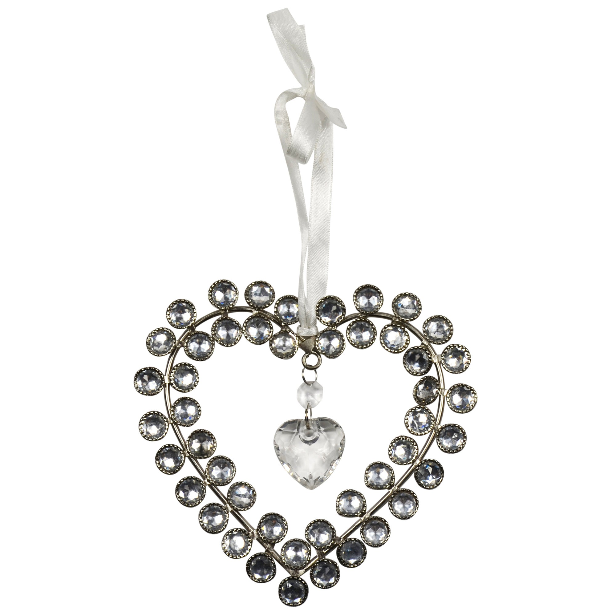 Sparkle Collection Hanging Jewelled Heart
