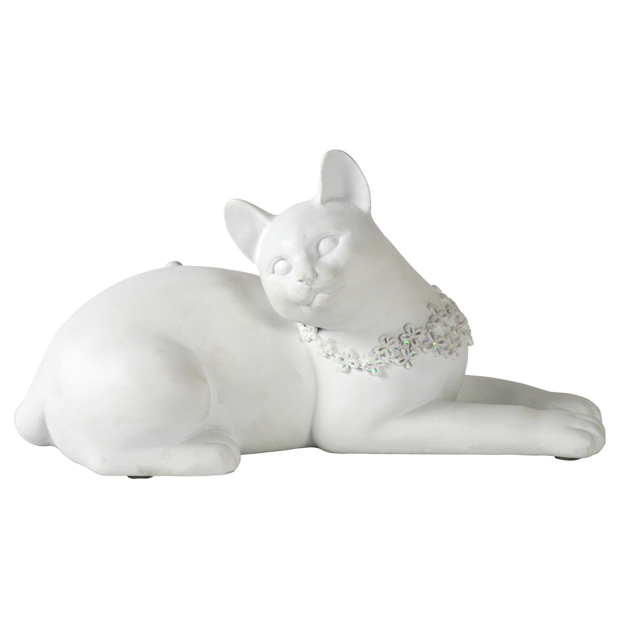 Sparkle Collection Laying Cat with Bling