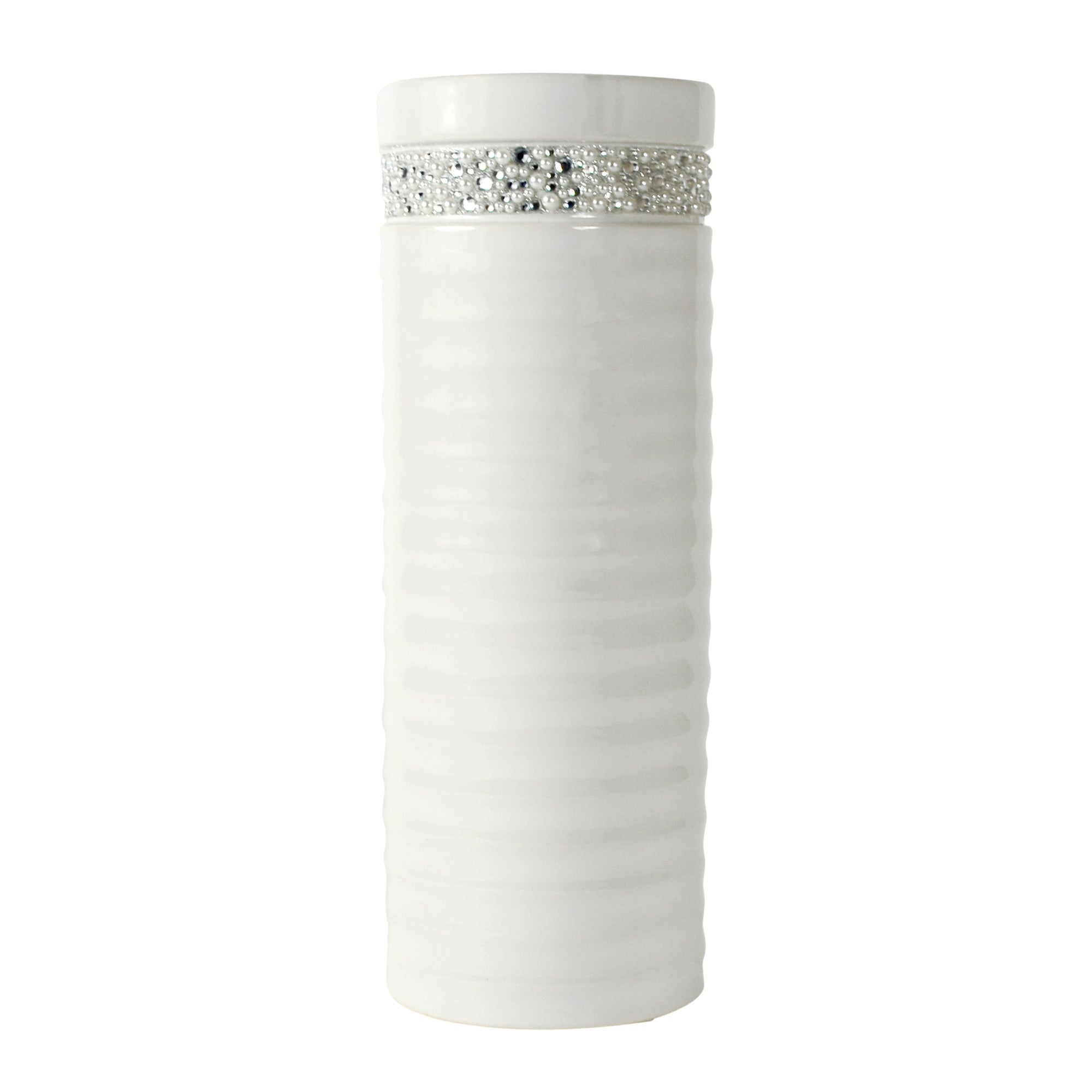 Sparkle Collection Ridged Vase