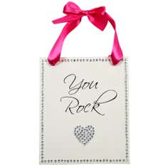 Sparkle Collection 'You Rock' Hanging Plaque
