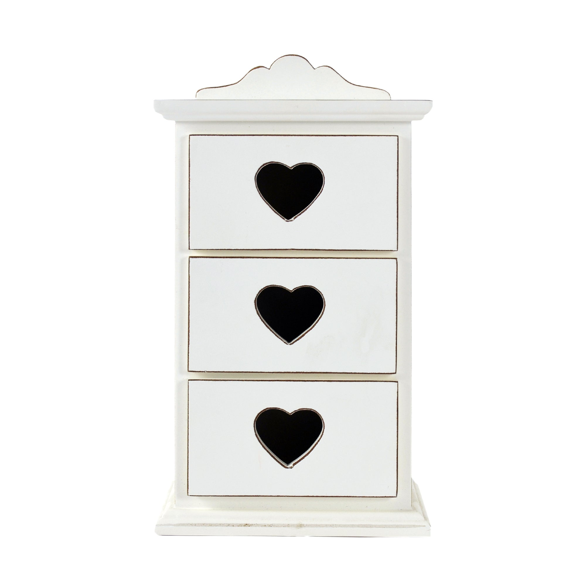 Vintage Collection Set of 3 Heart Drawers