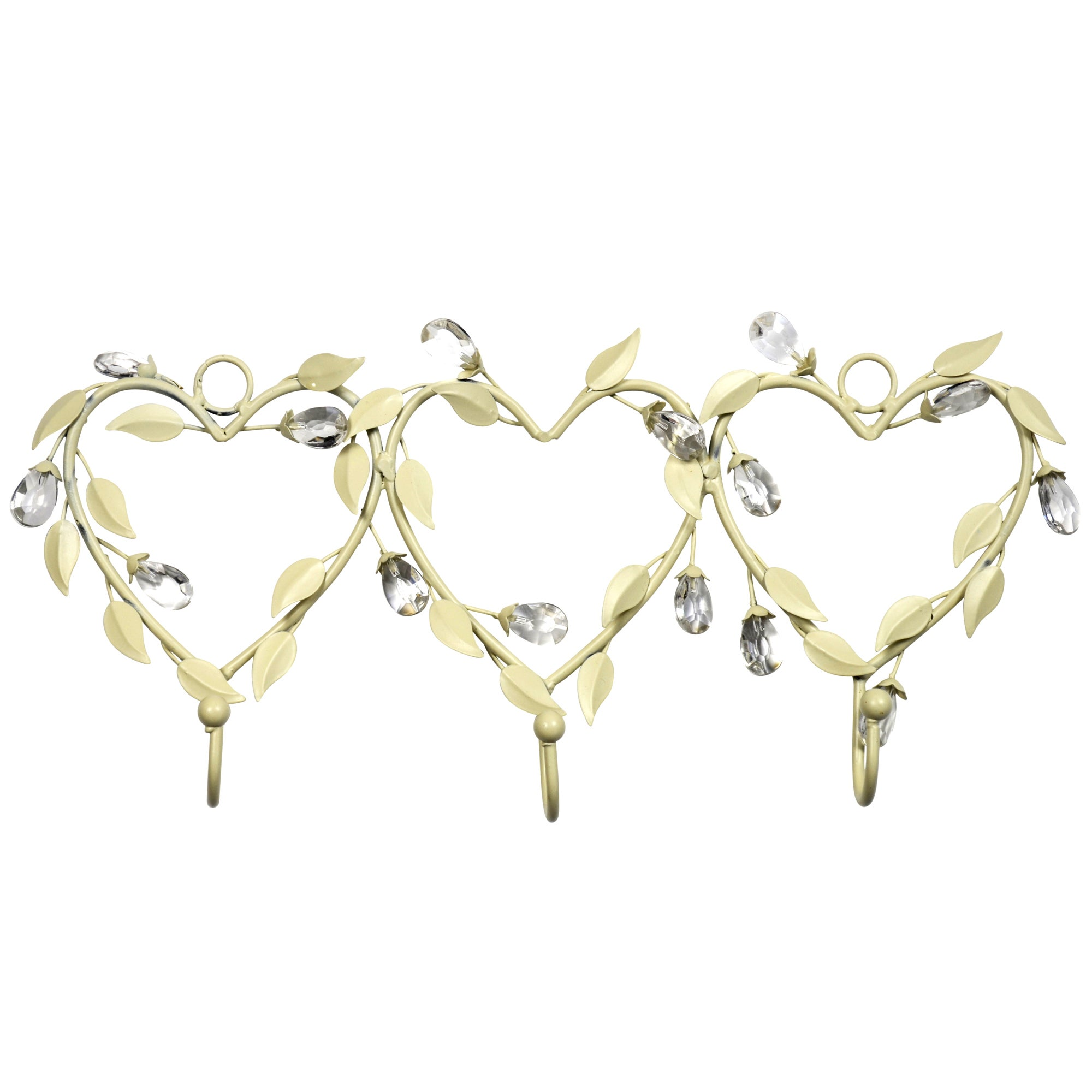 Vintage Collection Set of 3 Heart Shaped Hooks