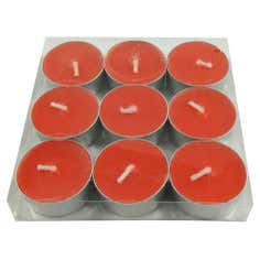 Home Fragrance Pack of 9 Vanilla and Amber Scented Tea Lights