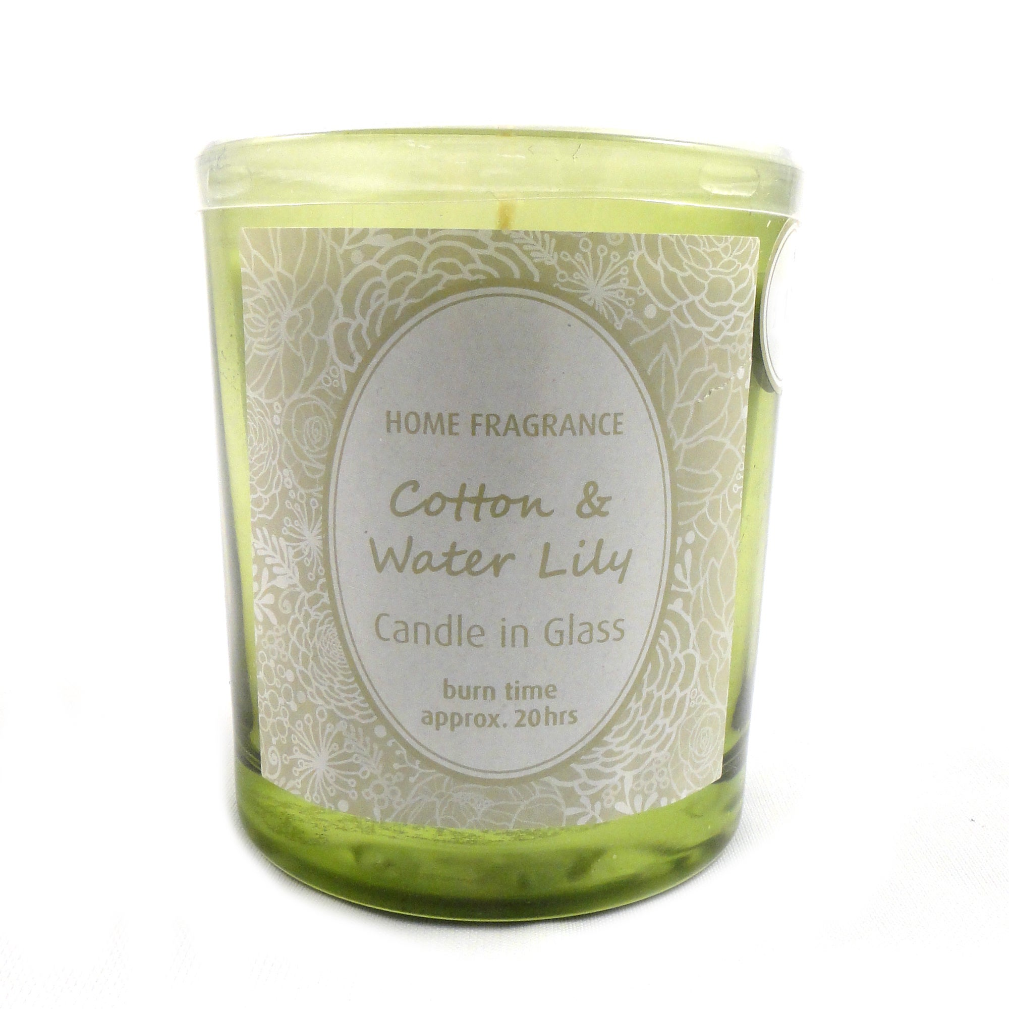 Home Fragrance Cotton and Water Lily Glass Candle