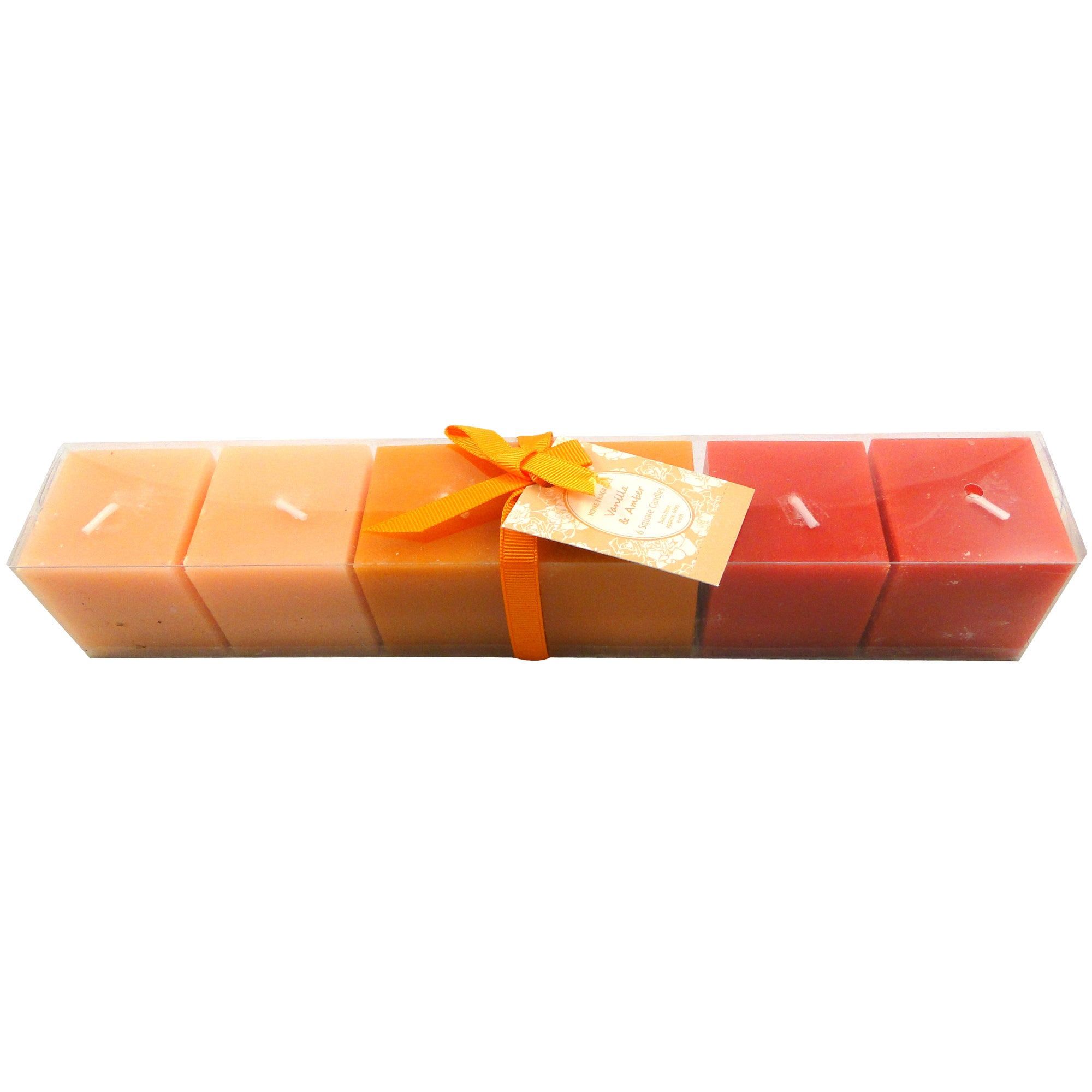Home Fragrance Set of 6 Vanilla and Amber Square Candles