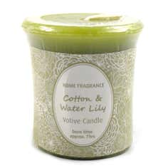 Cotton and Water Lily Votive Candle