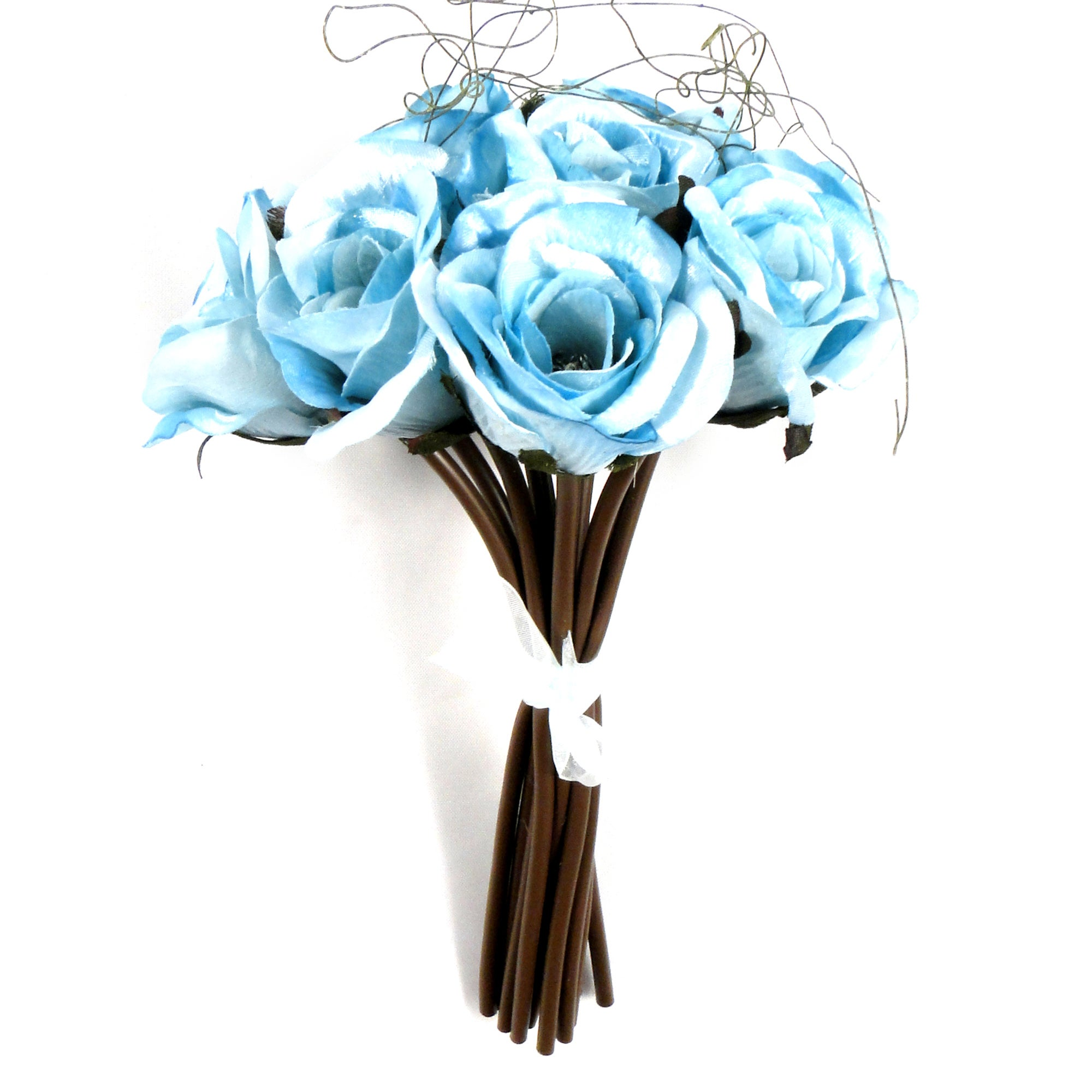 Artificial Hand Tied Duck Egg Rose Bundle