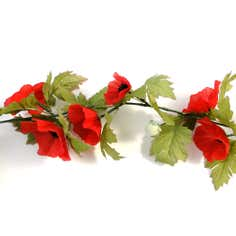 Artificial Poppy Garland