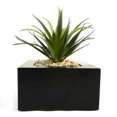 Artificial Green Plant in Wood Pot