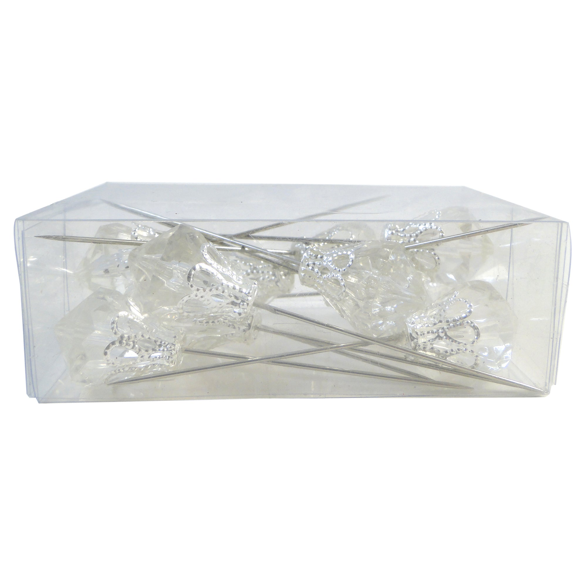 Wedding Collection Pack of 12 Acrylic Corsage Pins