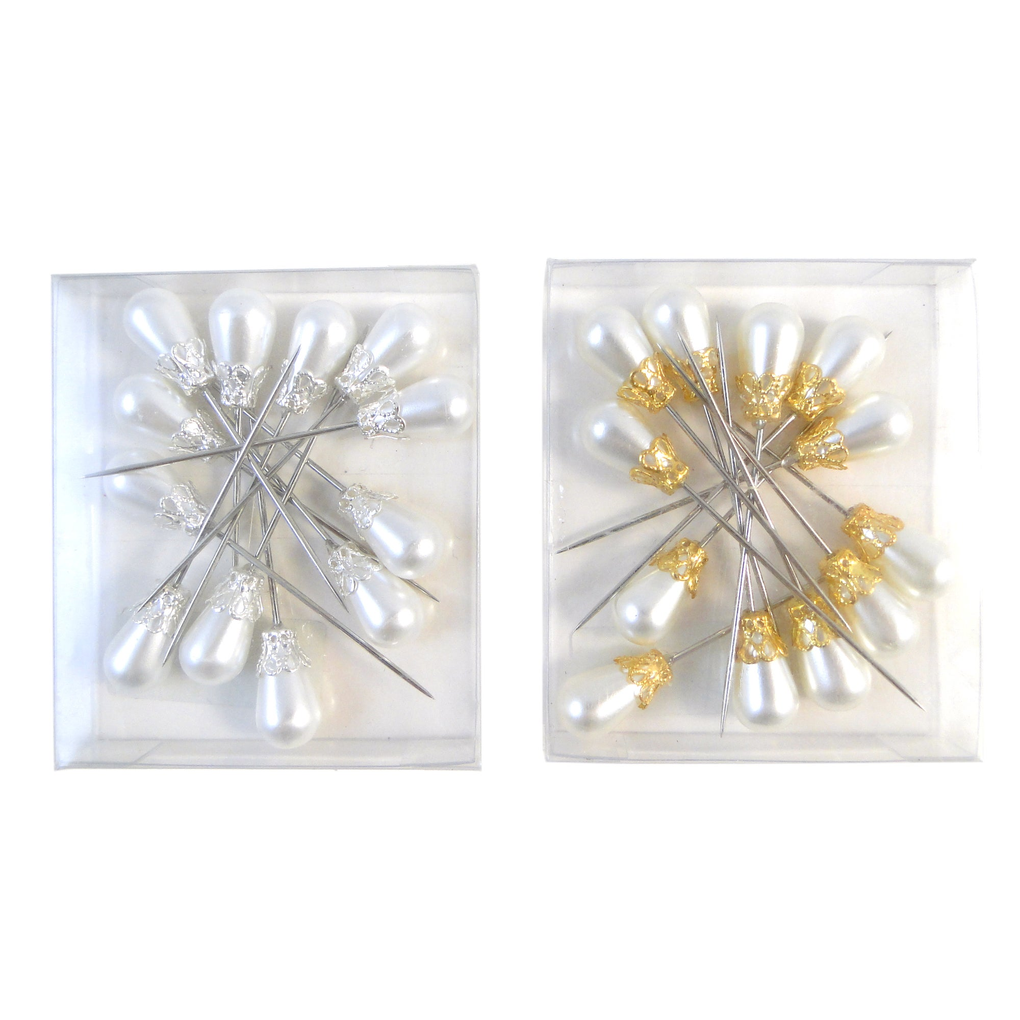 Wedding Collection Pack of 12 Pearl Corsage Pins