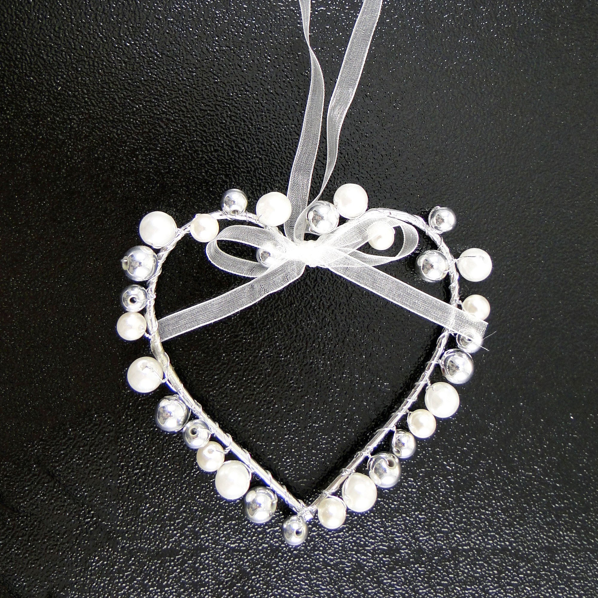 Wedding Collection Bead Heart Hanger