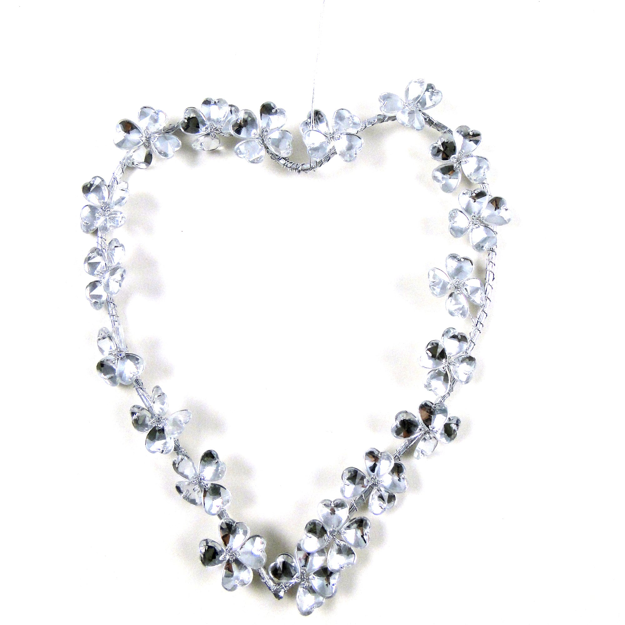 Wedding Collection Crystal Flower Heart Hanger