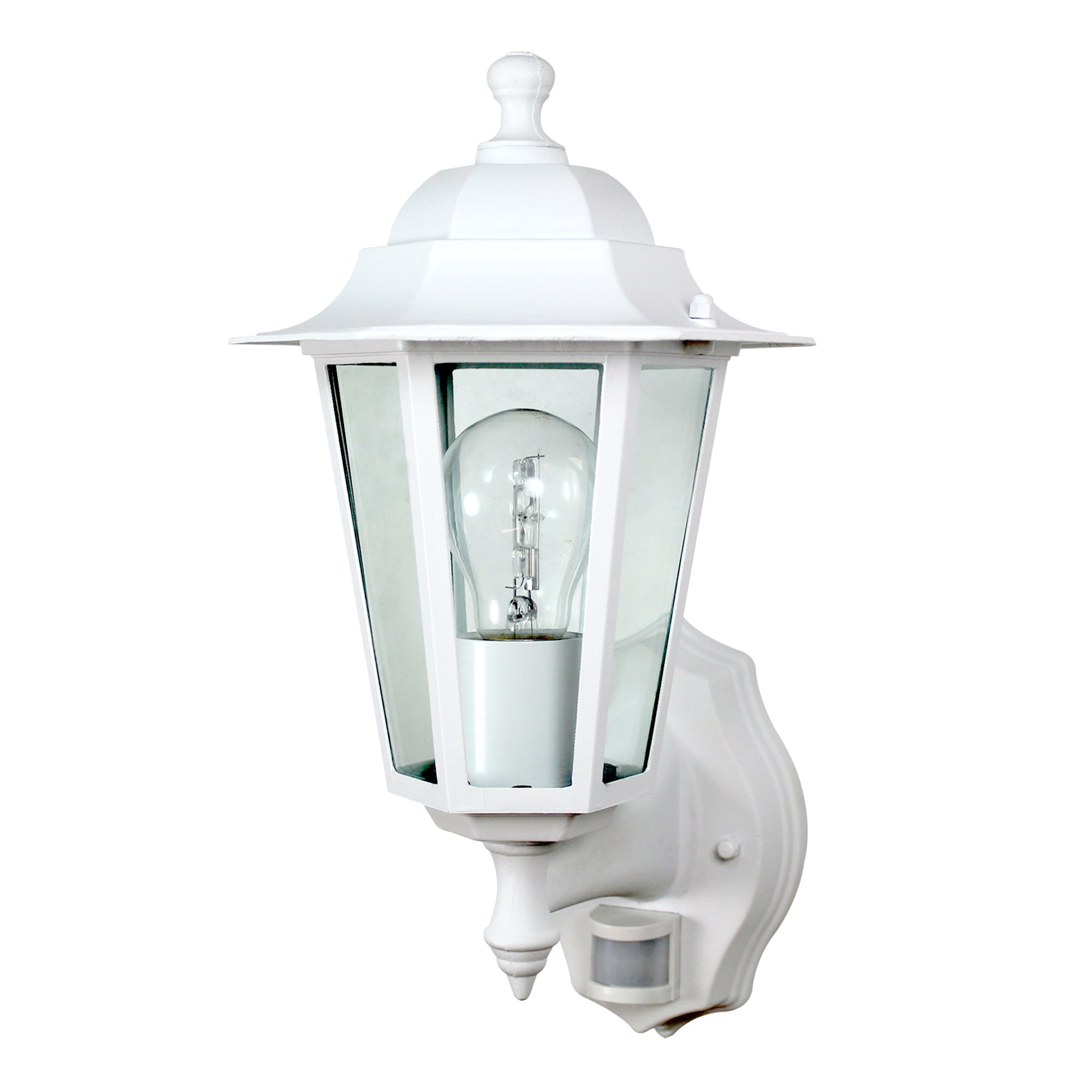 Outdoor 6 Sided White PIR Sensor Lantern