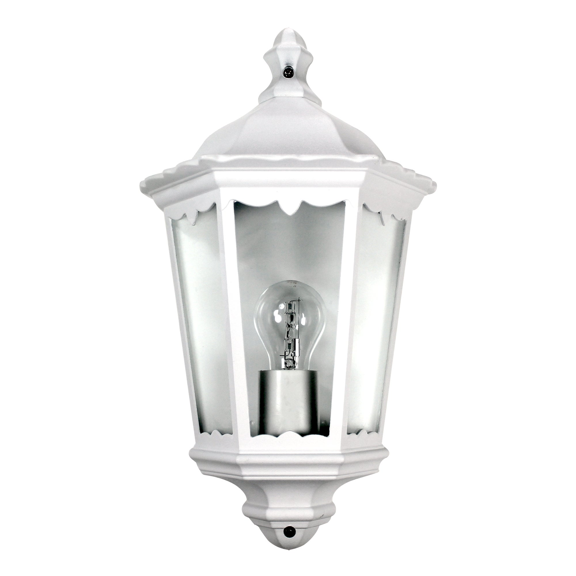 White Outdoor Half Wall Lantern