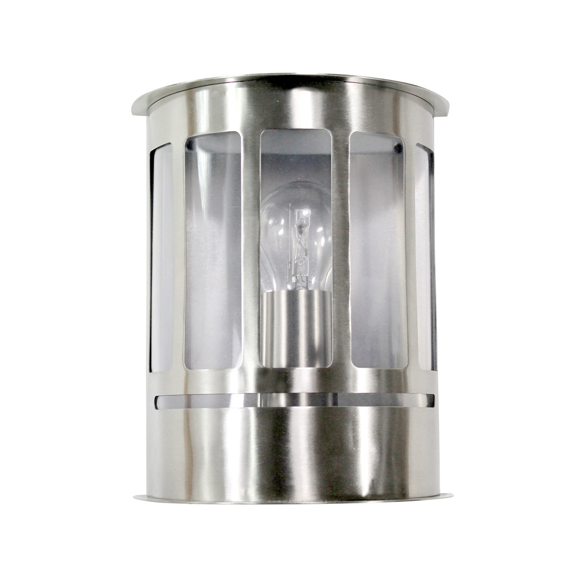 Outdoor Half Wall Stainless Steel Lantern