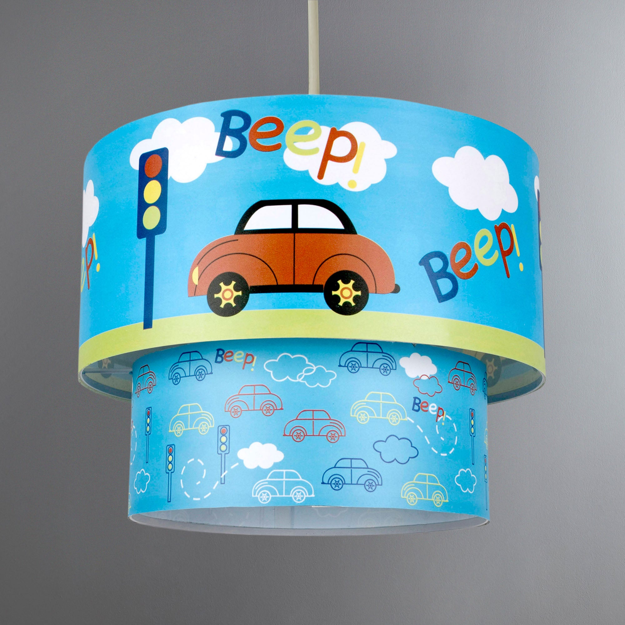 Kids Beep Beep 2 Tier Pendant Shade