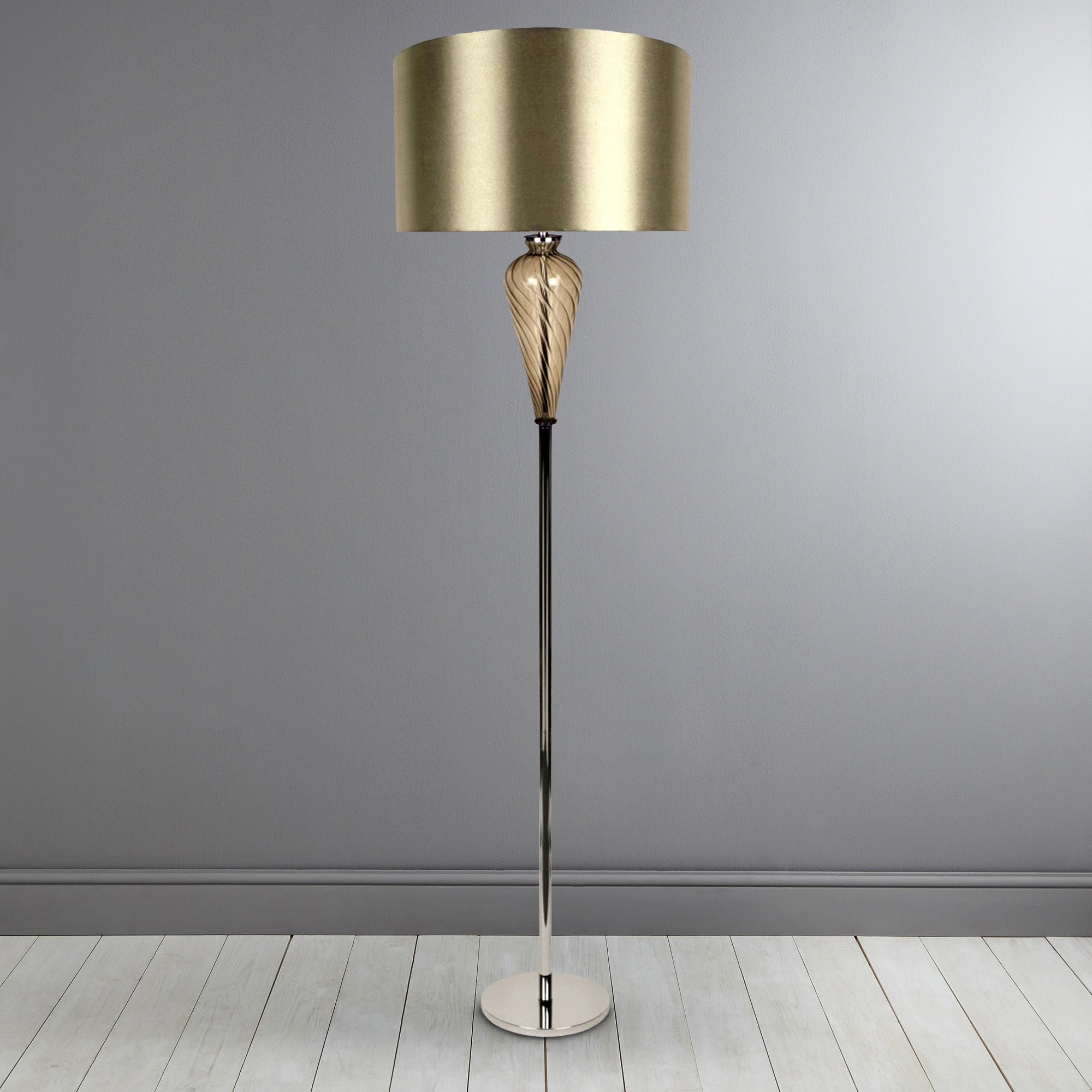 Hotel Glass Floor Lamp