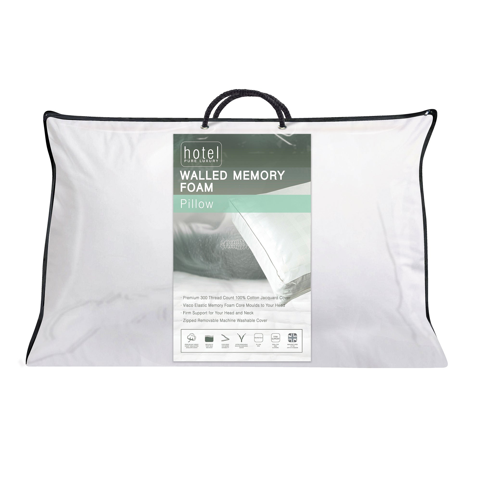 Hotel Memory Foam Walled Pillow