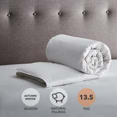 Hotel 13.5 Tog White Goose Feather and Down Quilt