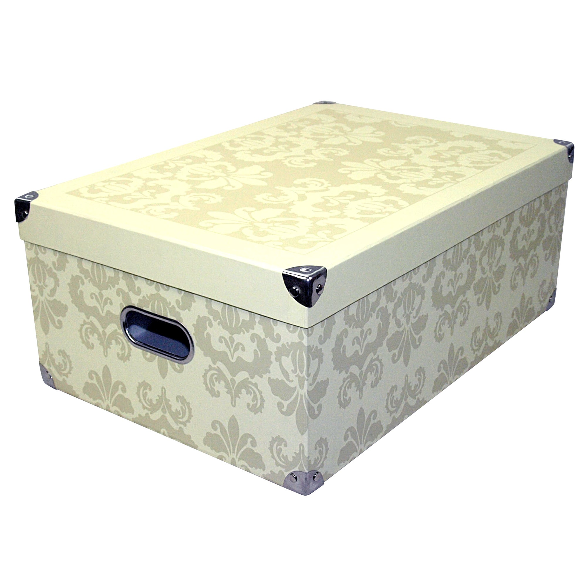Gold Damask Storage Box