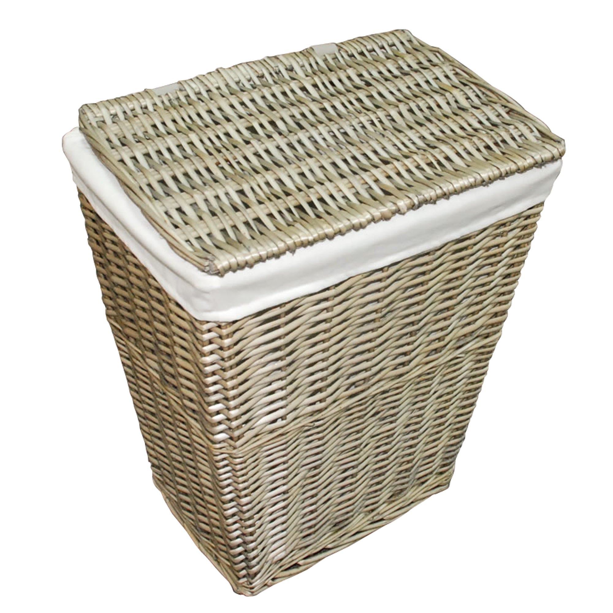 Grey Split Willow Collection Laundry Hamper