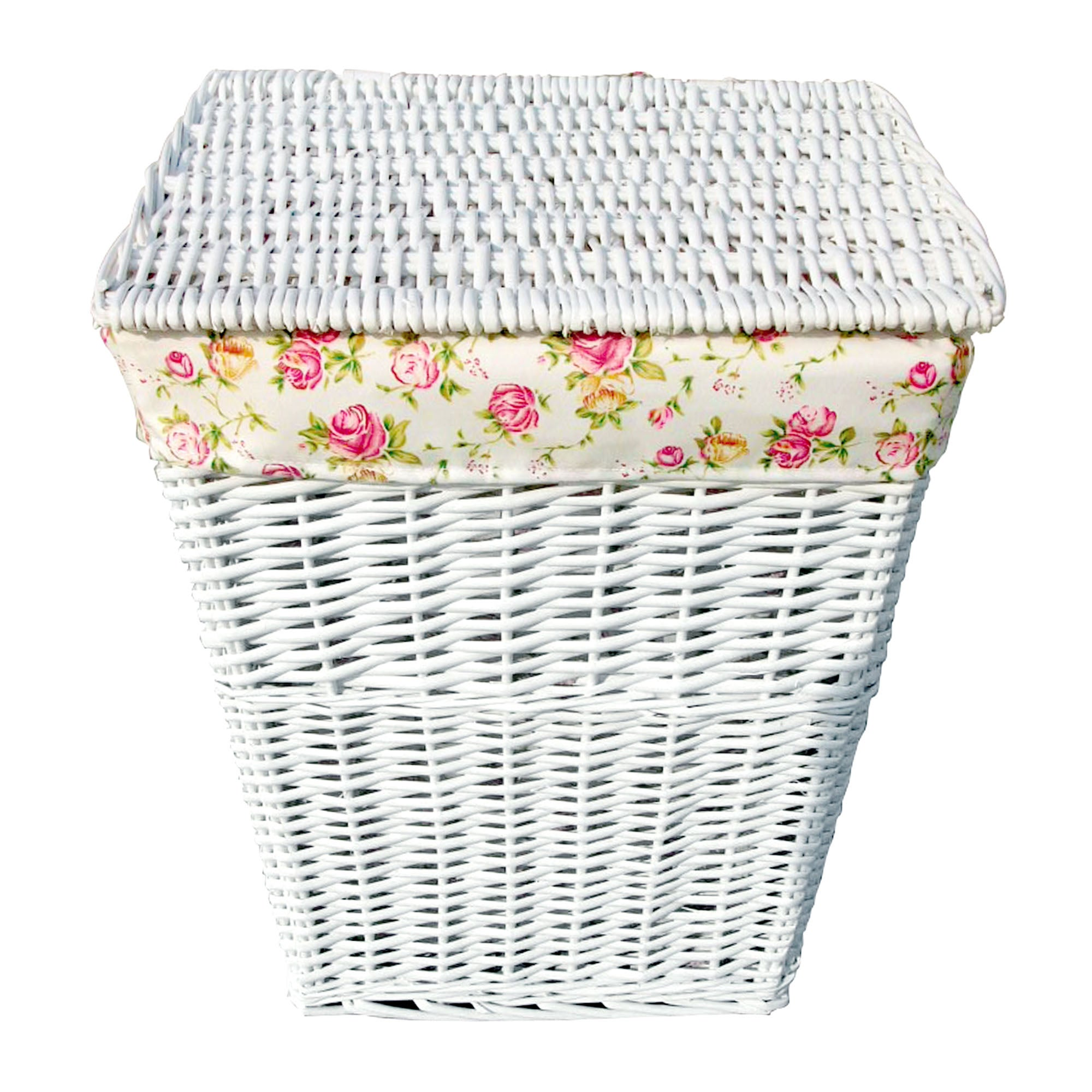 White Split Willow Collection Laundry Hamper