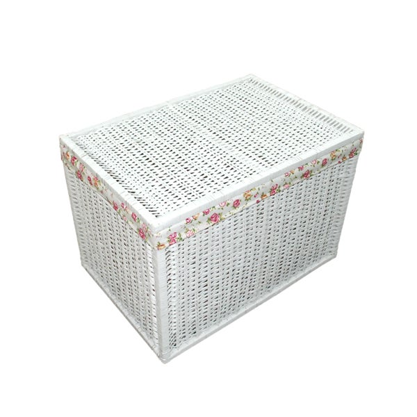 White Split Willow Collection Trunk