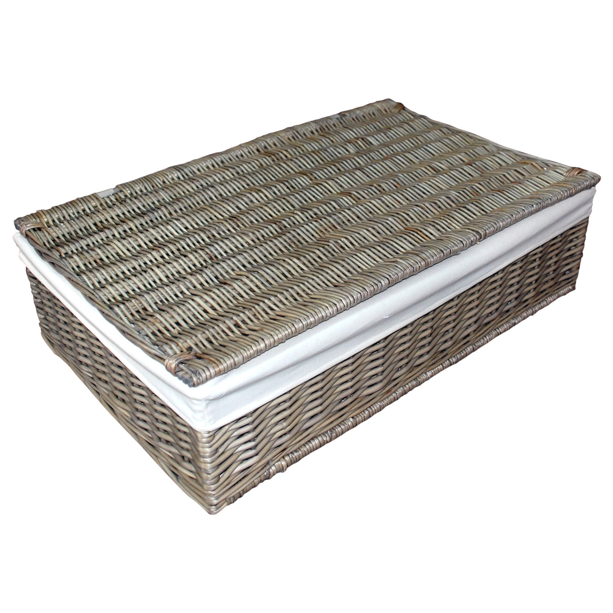 Grey Split Willow Collection Underbed Trunk