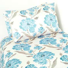 Teal Chelsea Printed Duvet Cover Set