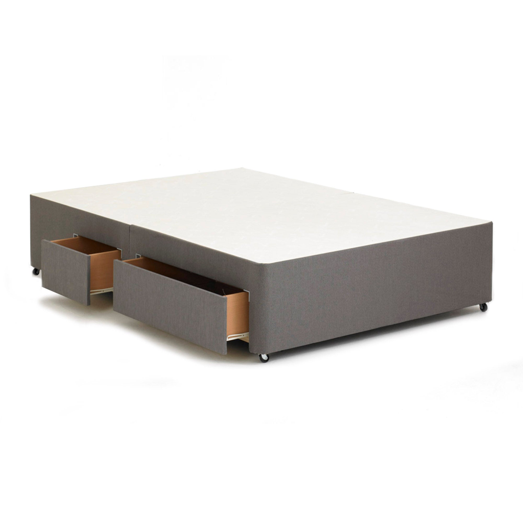 Sprung Divan Base with 2 Small Drawers & 2 Large Drawers