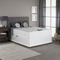 York Padded Single Divan Set with 2 Sliding Doors Left Side