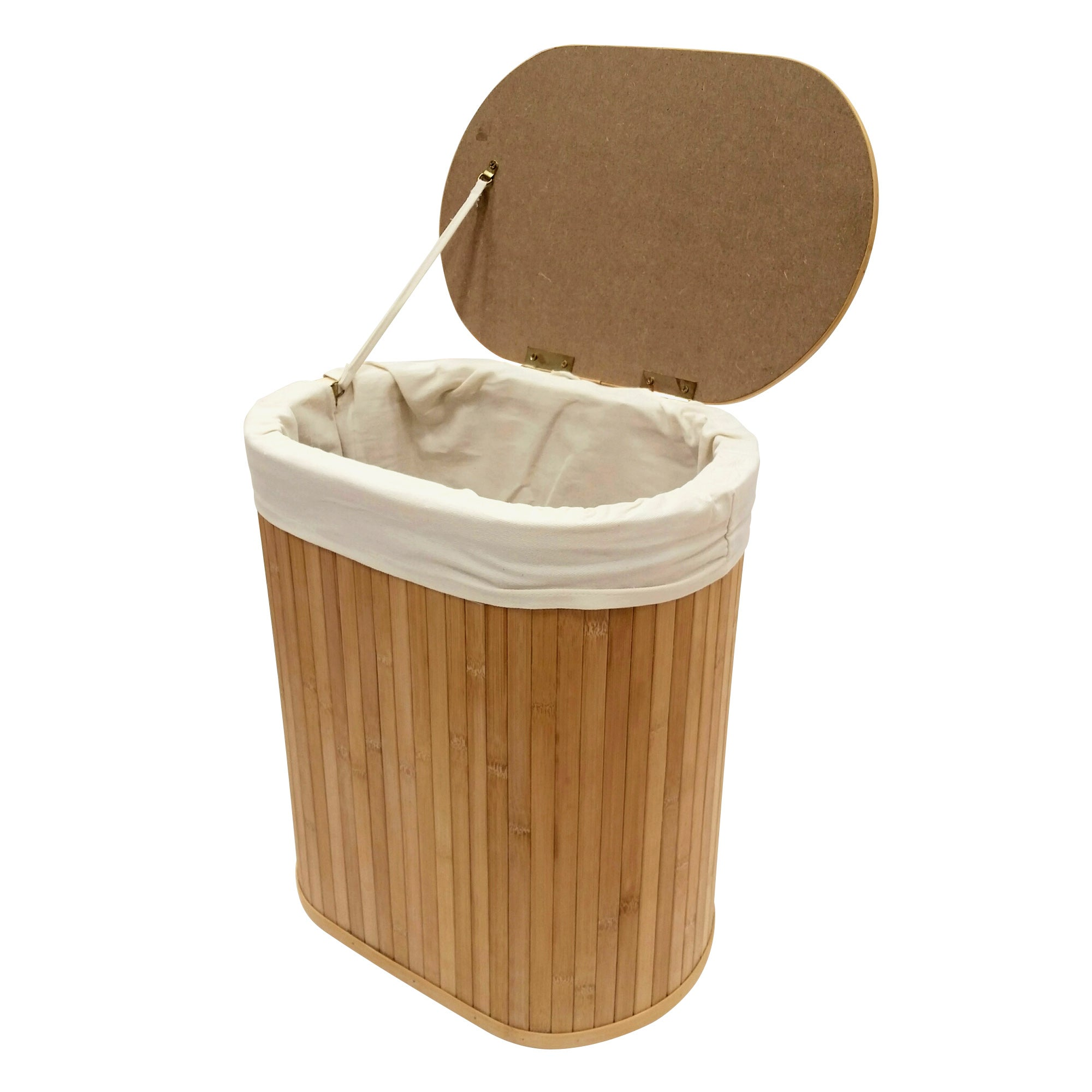 Woodford Oval Bamboo Laundry Hamper