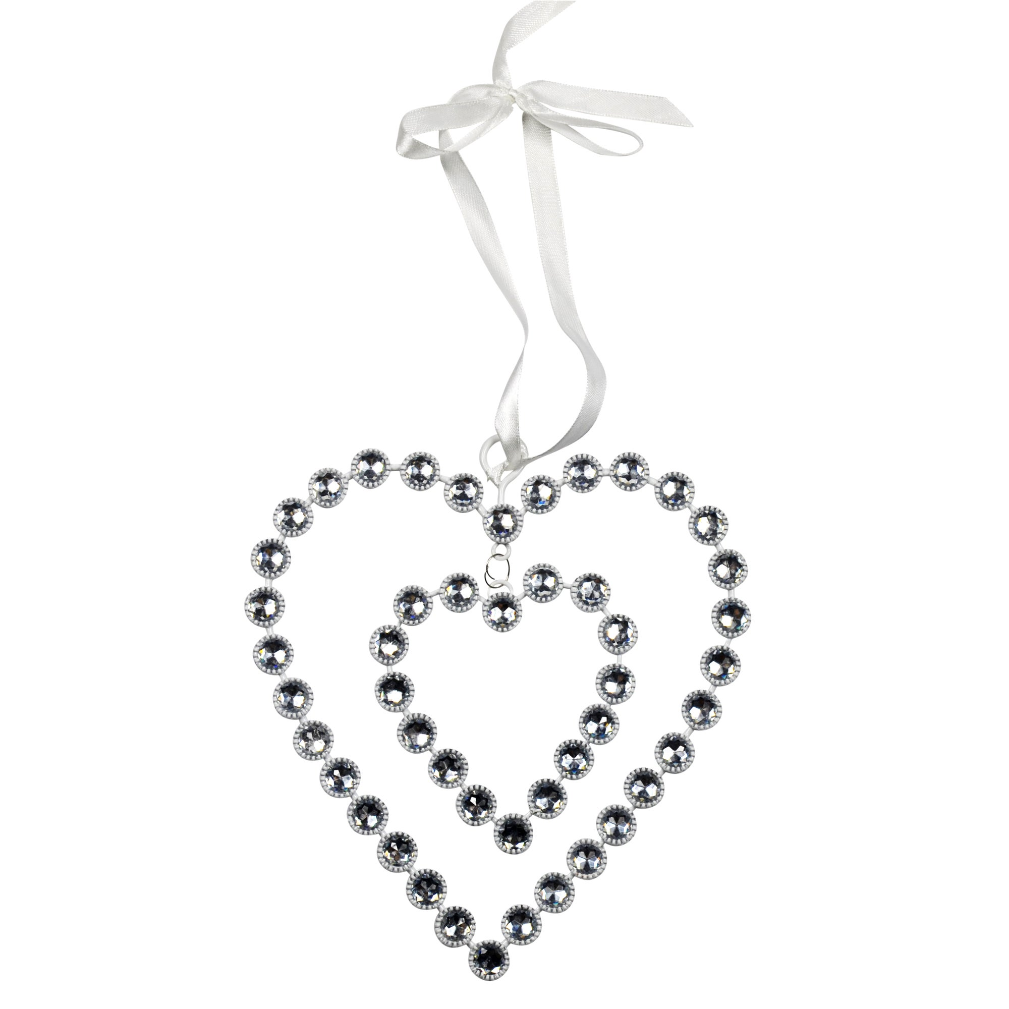 Sparkle Collection Hanging Jewel Heart