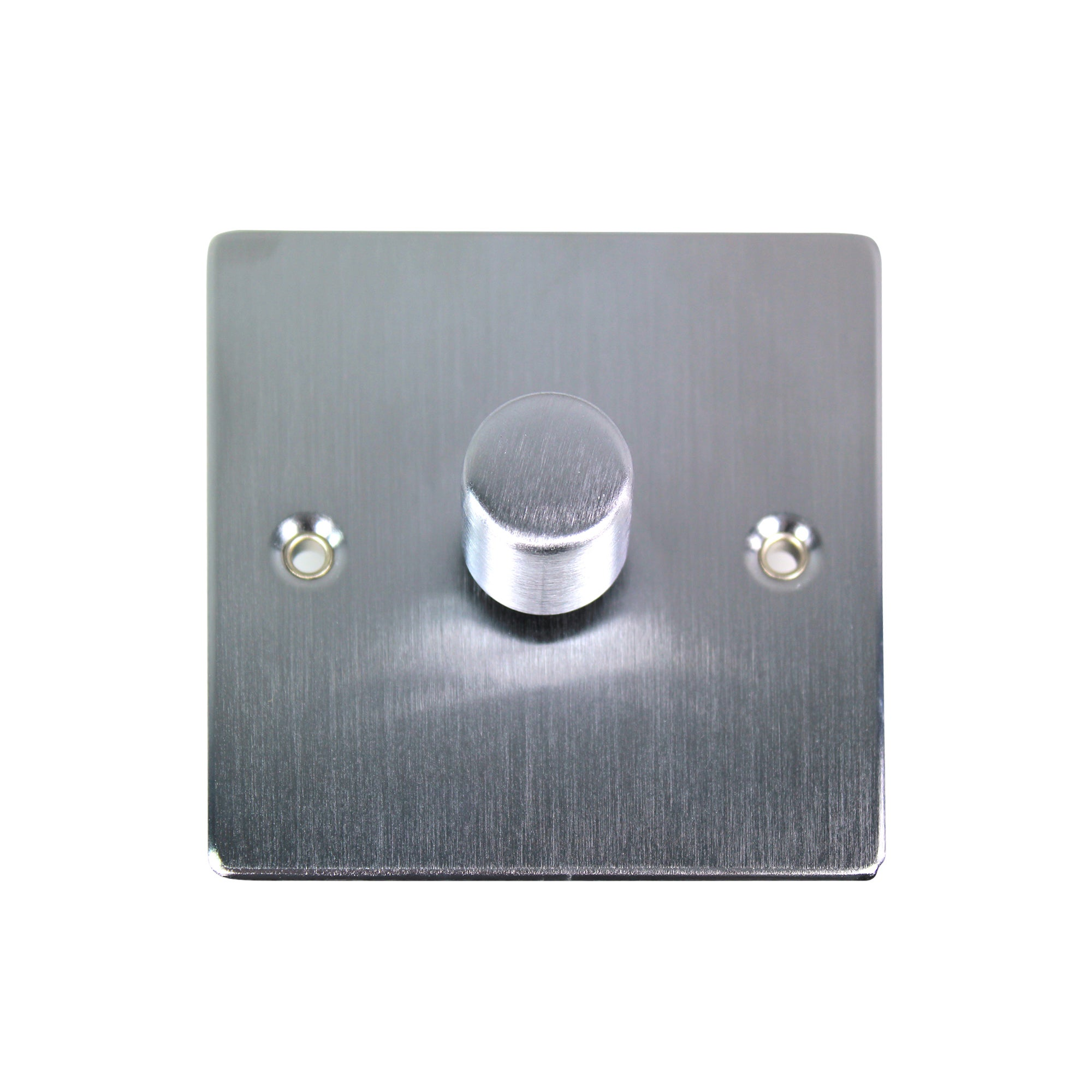 1 Gang 2 Way Brushed Chrome Dimmer Switch