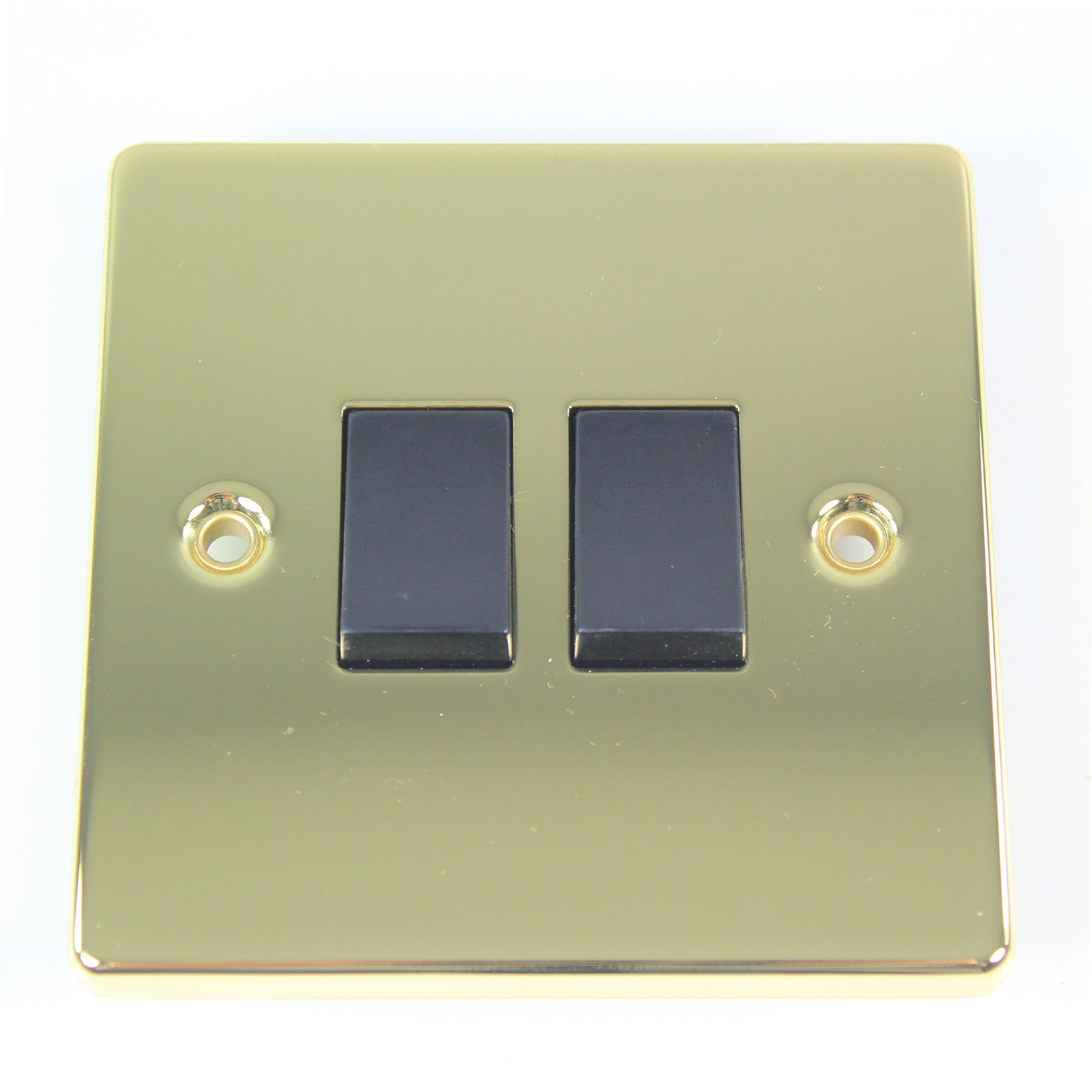 2 Gang 2 Way Antique Brass Light Switch