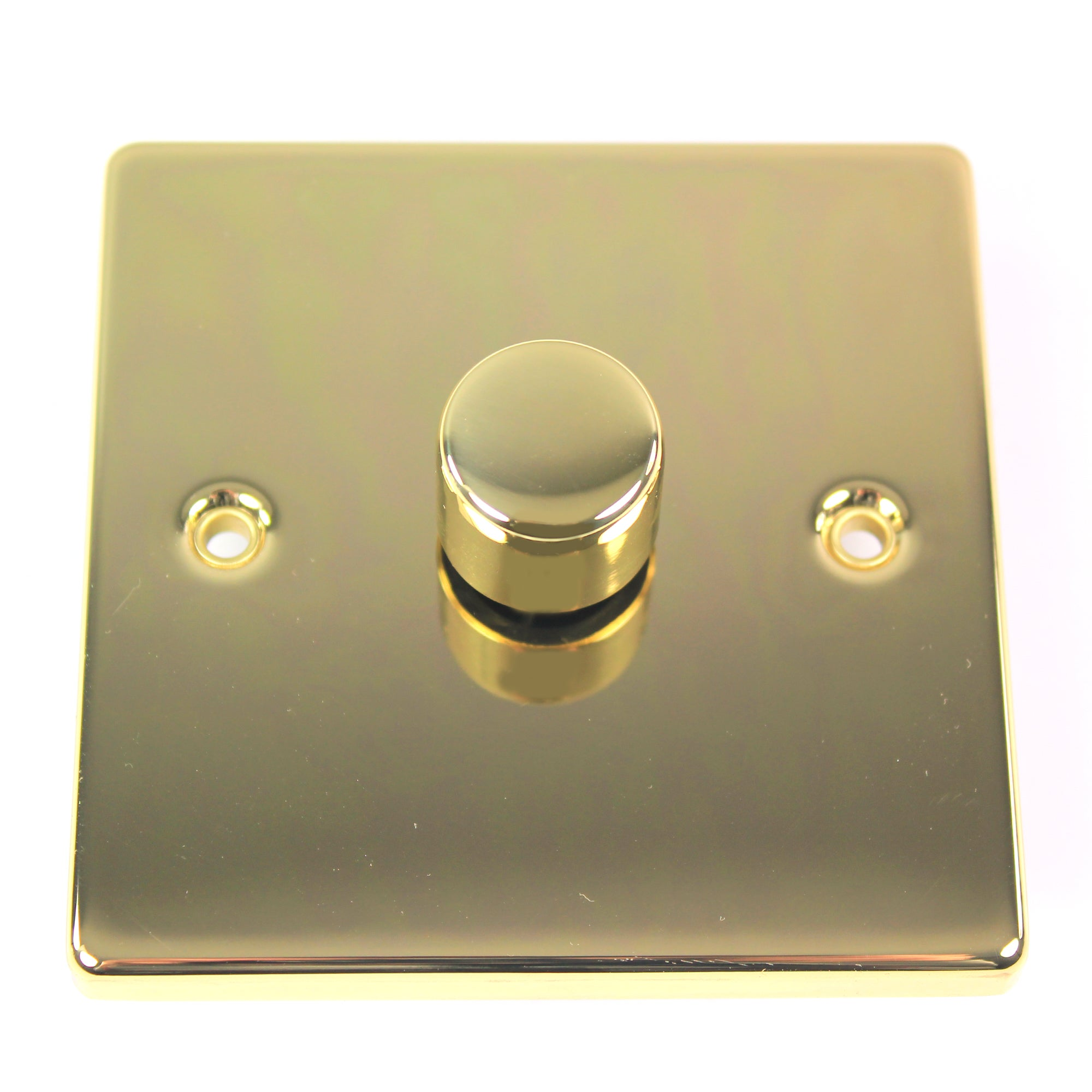 1 Gang 2 Way Polished Brass Dimmer Switch
