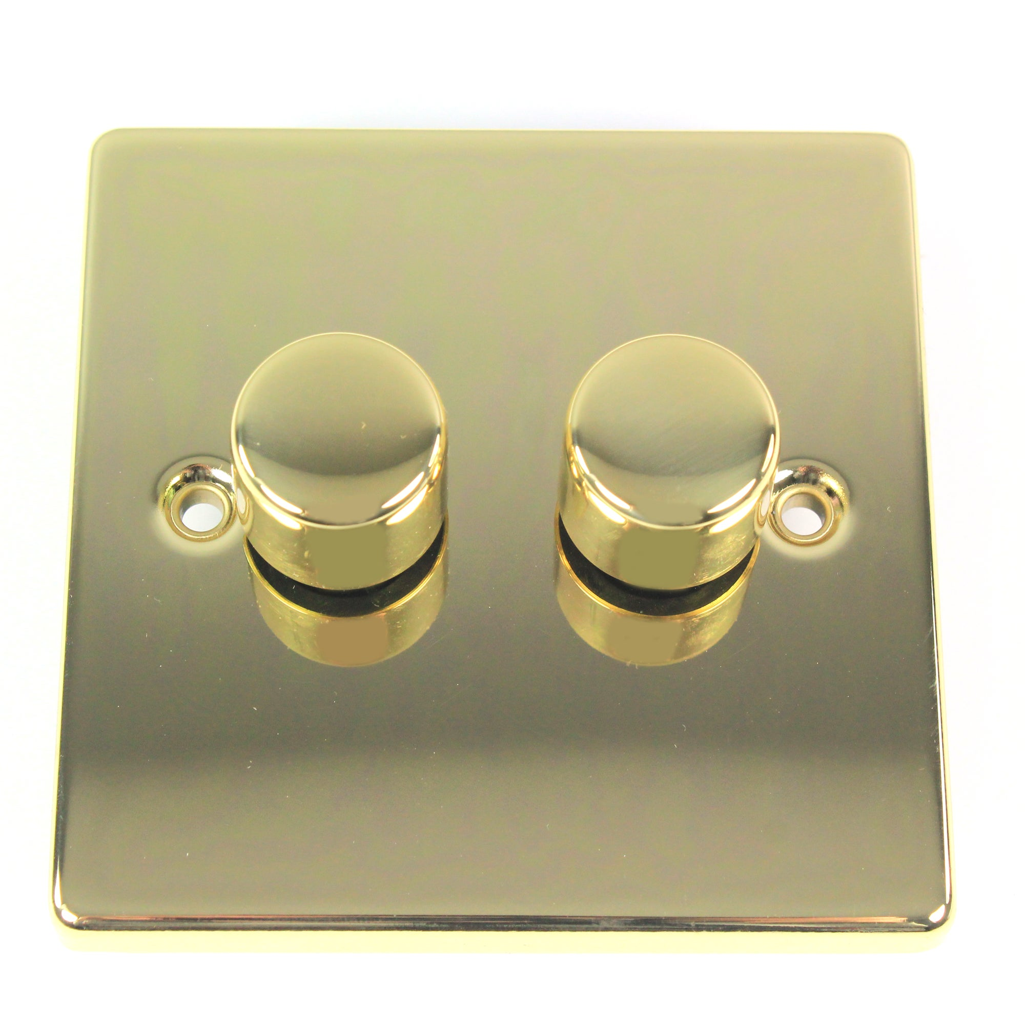 2 Gang 2 Way Antique Brass Dimmer Switch