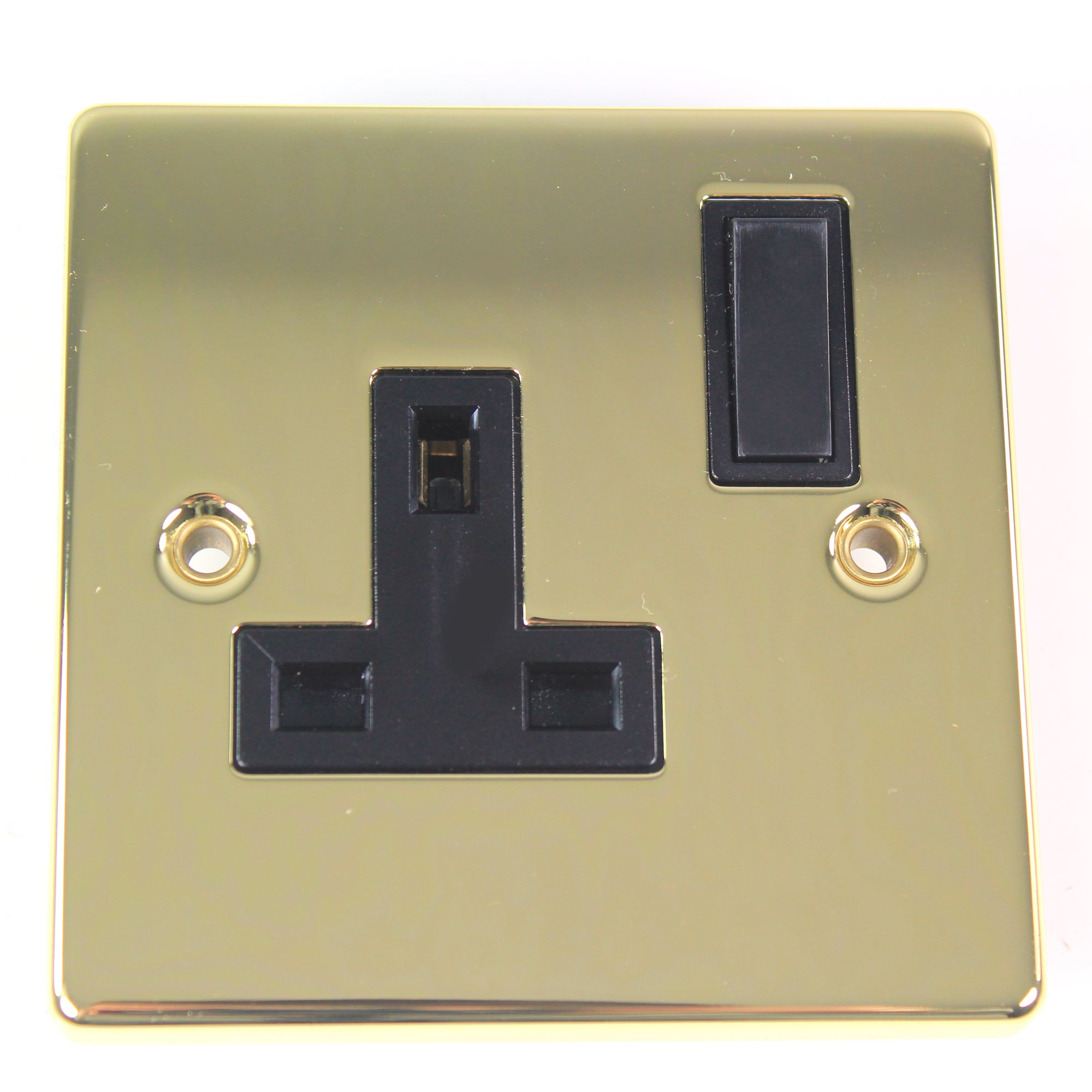 1 Gang Switch Antique Brass Socket