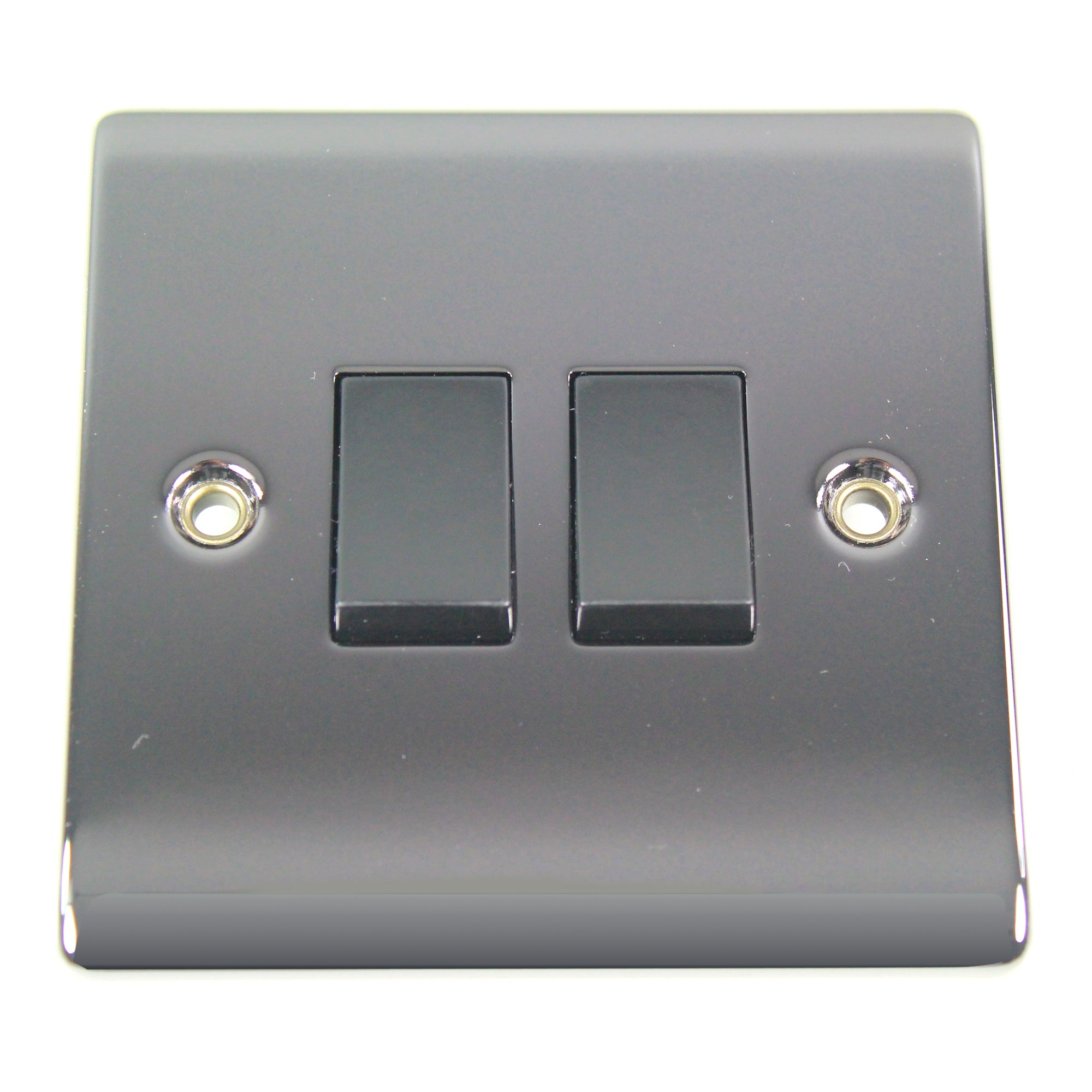2 Gang 2 Way Black Nickel Light Switch